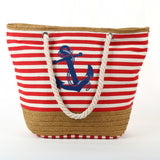 Summer Anchor Strips Canvas Tote,  bag, [product_collection], Lila's Beauty Bag