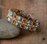 Natural Stones Boho Wrap Bracelet,  Boho, [product_collection], Lila's Beauty Bag