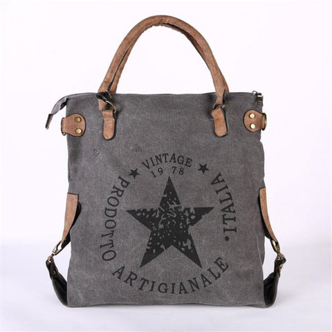 Printed Letters Star Canvas Bag,  bag, [product_collection], Lila's Beauty Bag