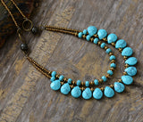 Semiprecious Stones Statement Choker,  multi layered, [product_collection], Lila's Beauty Bag