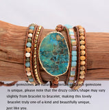 Natural Gilded Stone Charm Bracelet,  Boho, [product_collection], Lila's Beauty Bag