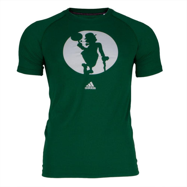 Boston Celtics - Climate Lucky Silhouette Adidas Mens Performance T Shirt