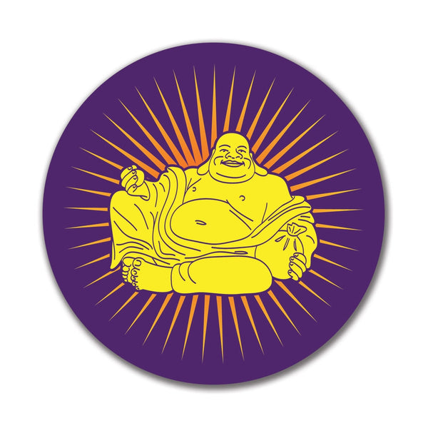 Buddha Rays of Light 4x4 Round Sticker