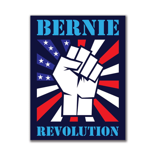 Election 2016 Bernie Sanders Raised Fist 3x4 Rectangular Sticker