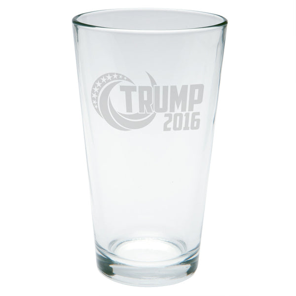 Election 2016 Trump 2016 Swoosh Etched Pint Glass
