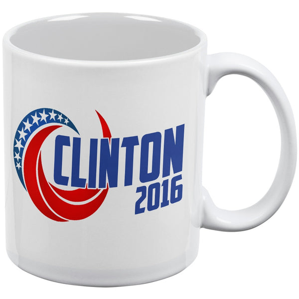 Election 2016 Clinton 2016 Swoosh White All Over Coffee Mug