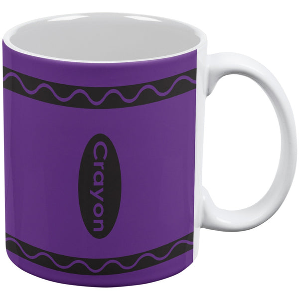 Crayon Purple All Over Coffee Mug