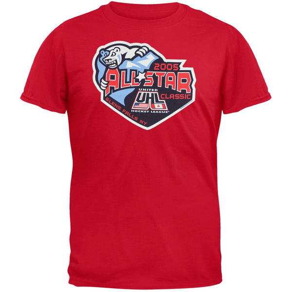 Adirondack Frostbite - 2005 UHL All Star Classic Red Adult T-Shirt