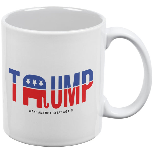 Election 2016 Trump Make America Great White All Over Coffee Mug