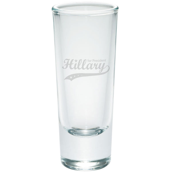 Election 2016 Hillary for President Swoosh Etched Shot Glass Shooter