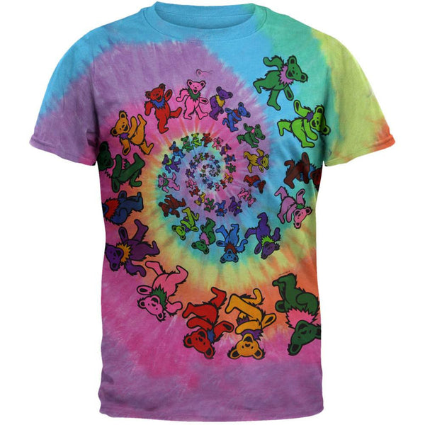 Grateful Dead - Spiral Bears Tie Dye T-Shirt