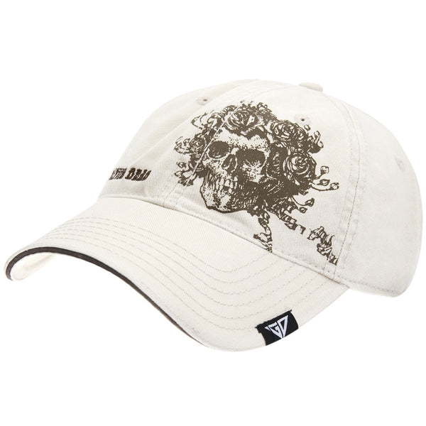 Grateful Dead - Skull & Roses Off-White Adjustable Baseball Cap
