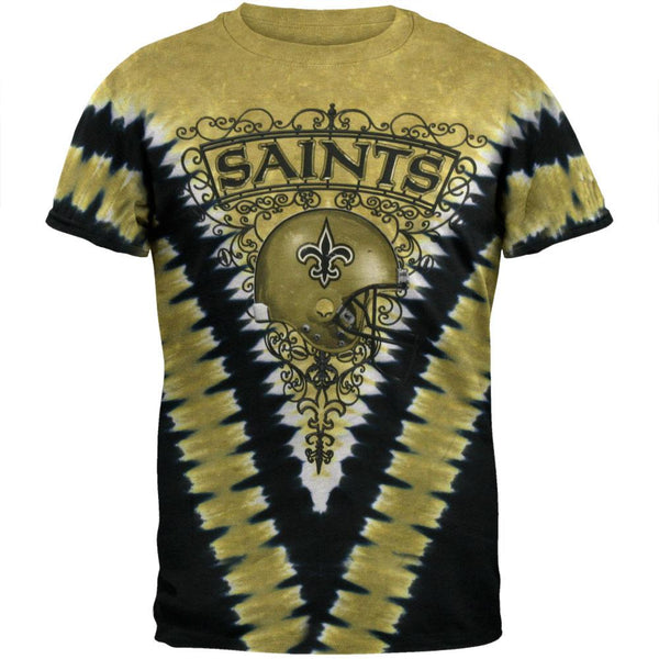 New Orleans Saints - Logo V-Dye Tie Dye T-Shirt