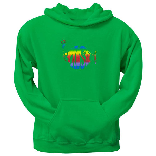 Phish - Rainbow Logo Kelly Green Pullover Hoodie