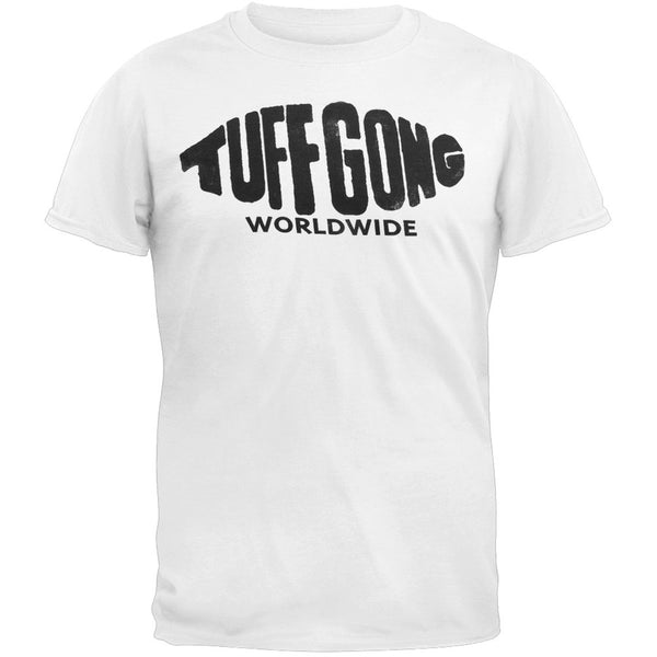 Bob Marley - Tuff Gong Adult Soft White T-Shirt