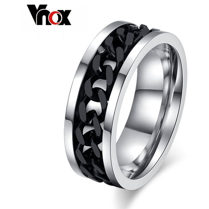 Titanium Black Chain Ring - SALE LAB