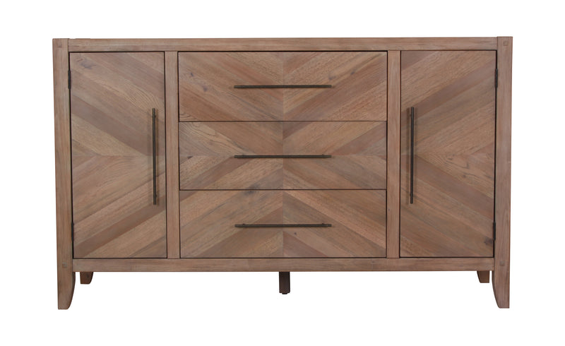 Coaster Auburn Dresser with Chevron Inlay Design