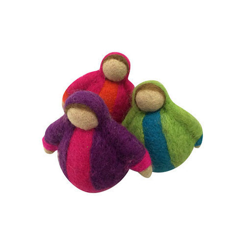 3 Roly Poly Dolls-Papoose Toys-Developmental toys for babies, infants and toddlers. Sustainably sourced, gender neutral, wooden baby toys.
