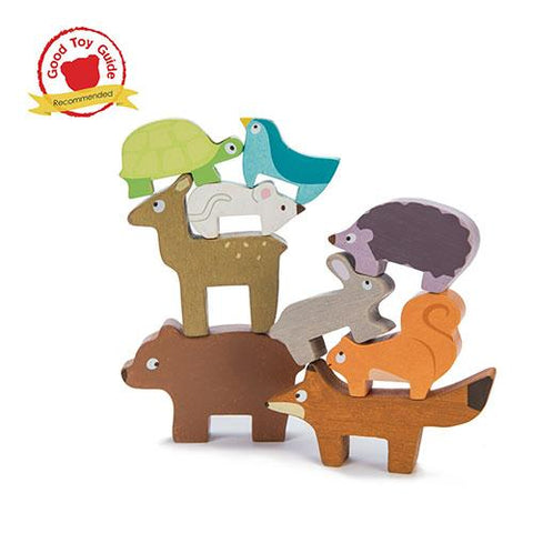 Forest Stacker Tower and Bag-Le Toy Van-Developmental toys for babies, infants and toddlers. Sustainably sourced, gender neutral, wooden baby toys.