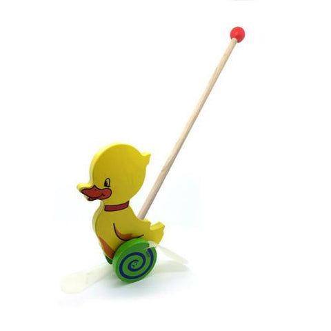 Push Along Toy - Duck-Hess-Developmental toys for babies, infants and toddlers. Sustainably sourced, gender neutral, wooden baby toys.