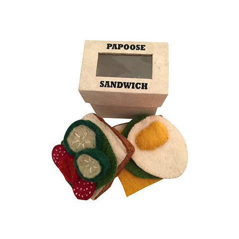 Sandwich and Fillings Felt Play-Set-Papoose Toys-Developmental toys for babies, infants and toddlers. Sustainably sourced, gender neutral, wooden baby toys.