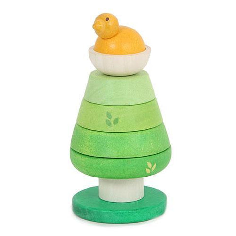 Tree Top Stacker-Le Toy Van-Developmental toys for babies, infants and toddlers. Sustainably sourced, gender neutral, wooden baby toys.