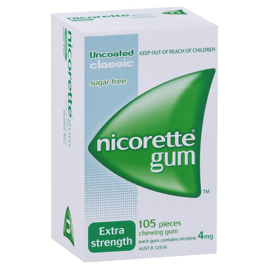 Nicorette Extra Strength Chewing Gum 4mg 105 Classic