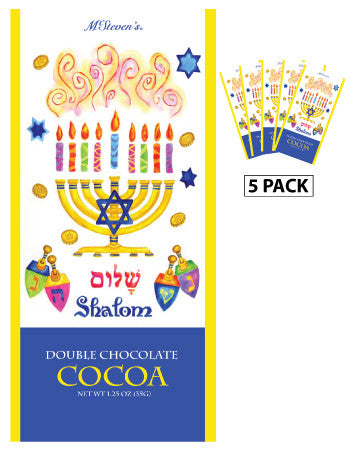 Packets Hanukkah Cocoa - McSteven's© Shalom Chocolate - 1.25 oz packets (5)