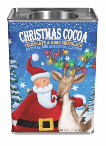 Dona Gelsinger Christmas Buddies Cocoa Mix 8 oz Tin - Chocolate & More Chocolate
