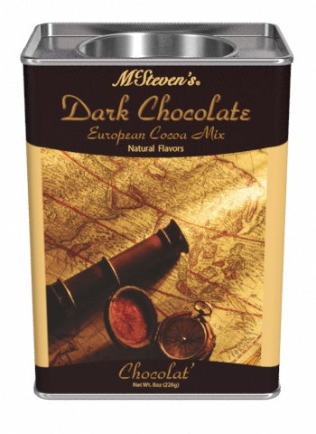Rectangular Tin Oval Plug Cocoa - McSteven's® European Dark Chocolate - 8 oz