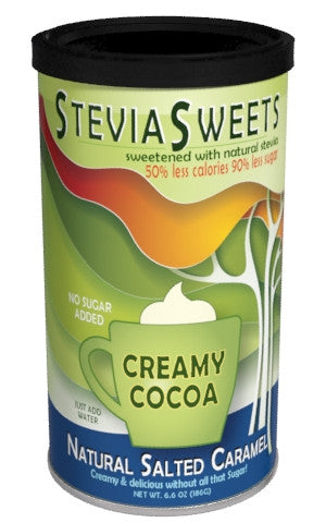 Round Canister Cocoa - McSteven's Stevia Sweets Salted Caramel - 6.6 oz
