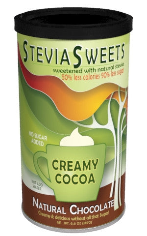 Round Canister Cocoa - McSteven's Stevia Sweets Chocolate - 6.6 oz