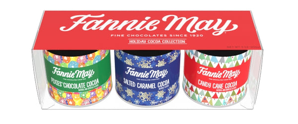 Gift Set Round Canisters Cocoa - Fannie May Art - 3-3 oz round canisters