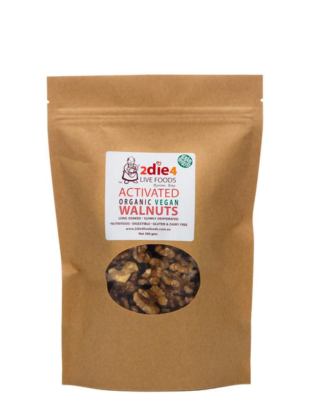 2Die4 Live Foods - Activated Organic Walnuts Vegan (300g)