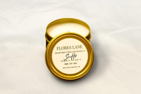 travel size SOHO, NYC, is known for its cobblestone streets, unique vendors, elegant archicture, and so much more! The blend too is fresh, scented with essential oils, it's a soft but powerfully uplifting mixture of green tea and bamboo. The glass of the candle is recycled and the wax is made of all natural soy!