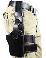 "TOM'S ""DROP LEG HOLSTER"" DOUBLE THICK STEEL MESH REINFORCED LEATHER GUN HOLSTER SYSTEM"