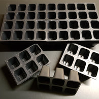 Seed Starting Insert Cells  (6 Cells Per Unit) - 1 Insert / 6 Units  (Larger & Deeper)
