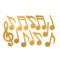 Gold Foil Musical Note S