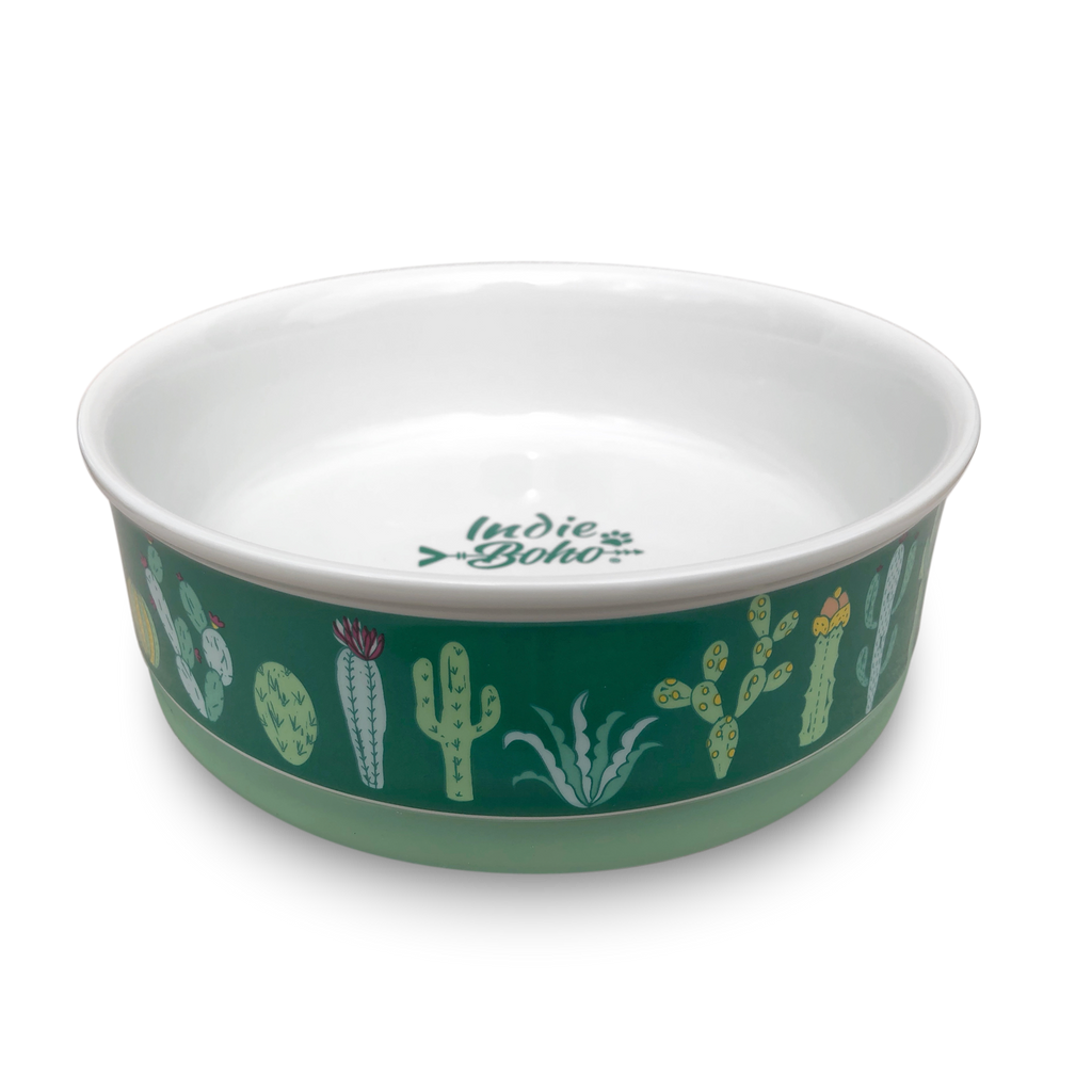 Cactus Garden Designer Dog Bowl Set