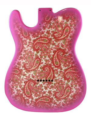 Allparts Pink Paisley Finished Telecaster Replacement Body Guitar Bodies Allparts