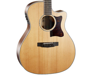 Cort Grand Regal Solid Cedar Top Acoustic-Electric Guitar GA5FBWNS-U