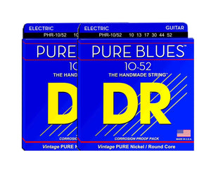 DR Strings Pure Blues PHR-10/52 Electric Guitar Strings 2-Pack Electric Guitar Strings DR Strings