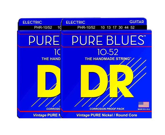 DR Strings Pure Blues PHR-10/52 Electric Guitar Strings 2-Pack