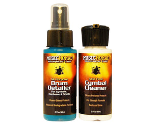 MusicNomad Drum Detailer & Cymbal Cleaner Combo Pack 2 oz Trial Size MN117 Polishes and Cleaners Music Nomad