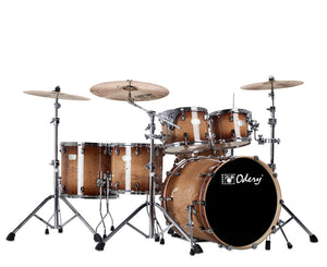 "Odery ""Fluence"" 401 Fusion 6-Piece Drum Sets with Hardware in Magma Vintage Drum Sets Odery Drums"