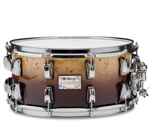 Odery Snare Drum Eyedentity Series 14 x 7 in Mappa Burl Brown Fade Snare Drum Odery Drums