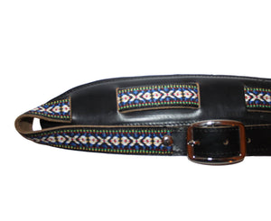 Souldier Vintage Leather Saddle Strap - Classic Weave - Black Guitar Straps Souldier