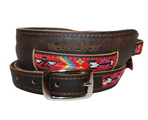 Souldier Vintage Brown Leather Saddle Strap - The Thunderbird Guitar Straps Souldier