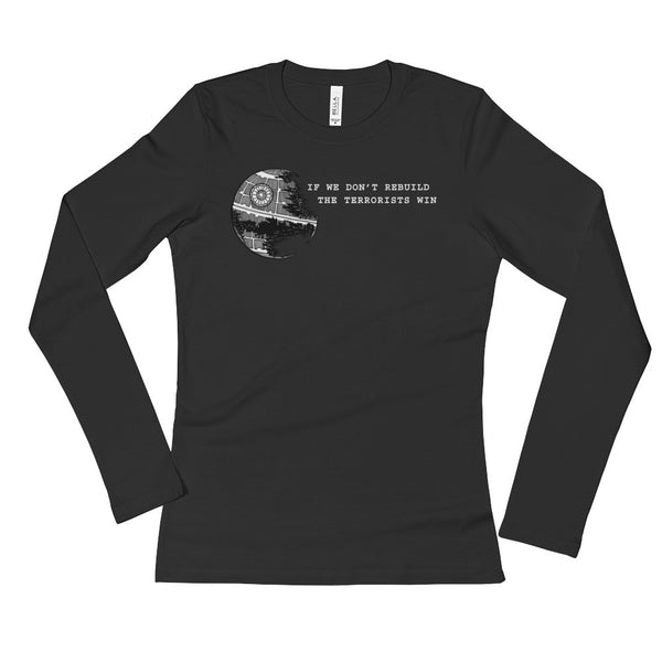 Anti-Terrorism Ladies' Long Sleeve Star Wars Parody T-Shirt + House Of HaHa Best Cool Funniest Funny T-Shirts