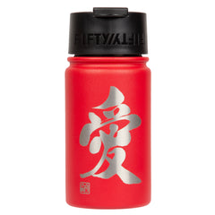 "12oz/354mL ""Love"" Shodo Flip Top Bottle (Red) 